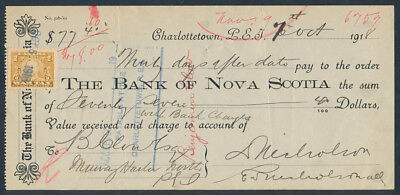 Canada - Prince Edward Is: 1918 Bank of Nova Scotia. Time Note & WAR TAX Stamp