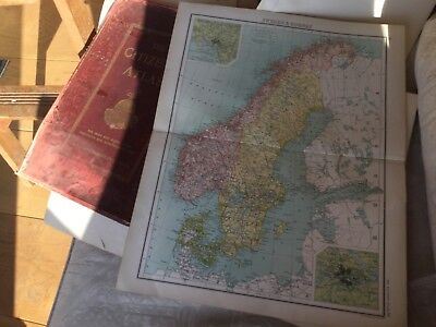 Map of Sweden and Norway - The Citizens atlas of the World (circa 1912)