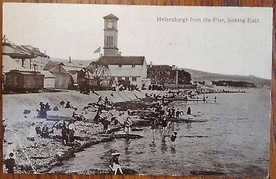 Helensburgh From The Pier Looking East Edwardian Vintage Postcard