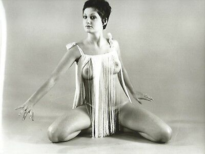 Photo Vintage ,  Pin-Up Brune ,  Charme , Hubert Toyot , 1969