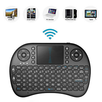 2.4GHz Mini Mobile Wireless Keyboard with Touchpad Remote Control with Rechargable Li-ion Battery for PANASONIC TX-65EZ1002B 65 Smart TV
