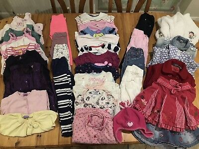 Large Bundle of Girls Clothes - Age 2-3 - Next, Gap, Butterfly - 38 items