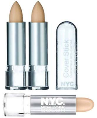 Nyc Cover Stick Correcteur Concealer New Silver Case **choose Shade**