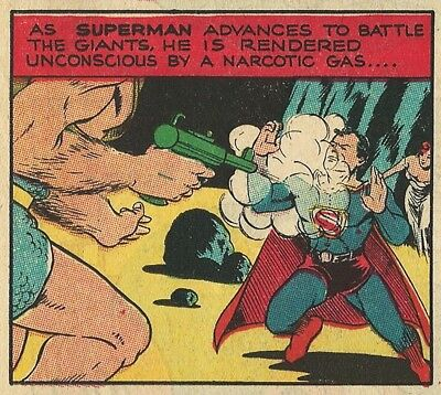 SUPERMAN SUNDAY PAGE #18 - March 3, 1940 - SUPERMAN DEFEATS THE GIANTS - RARE