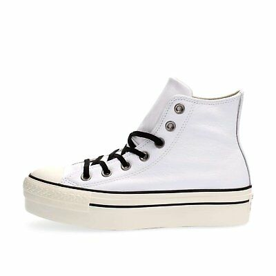 converse ox platform leather donna