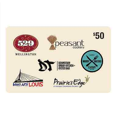 WOW! Hospitality Concepts Gift Card - $50 Mail Delivery