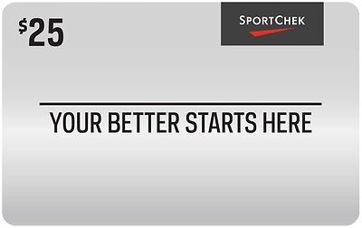 Sport Chek Gift Card - $25 Mail Delivery