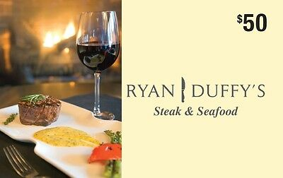 Ryan Duffy's Steak & Seafood Gift Card - $50 Mail Delivery