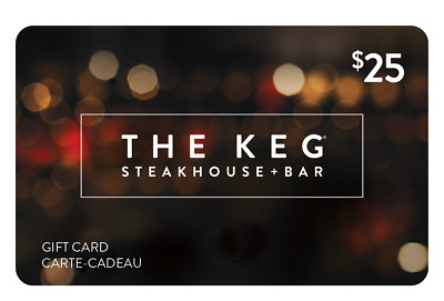 The Keg Steakhouse & Bar Gift Card - $25 Mail Delivery