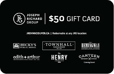 Joseph Richard Group Gift Card - $50 Mail Delivery