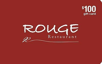 Rouge Restaurant Gift Card- $100 Mail Delivery