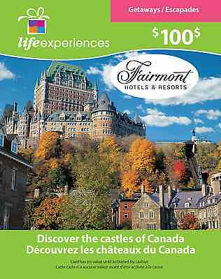 Fairmont Hotels & Resorts Gift Card - $100 Mail Delivery