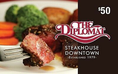 The Diplomat Steakhouse Gift Card - $50 Mail Delivery