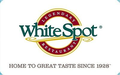 White Spot Restaurants Gift Card- $25 Mail Delivery