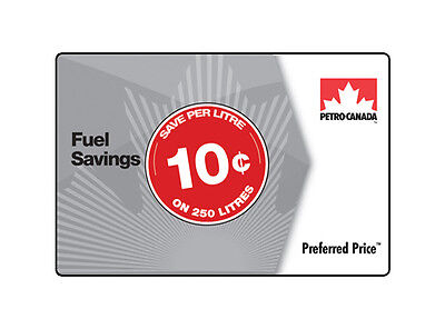 Petro-Canada™ Preferred Price™ Card - $25 (save 10¢ per litre on 250 litres)