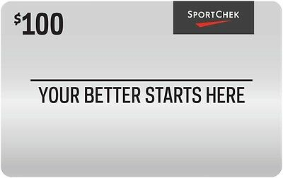 Sport Chek Gift Card - $100 Mail Delivery