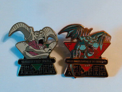 2003 First Edition Upper Deck Yu-Gi-Oh Summoned Skull & Winged Dragon Pins