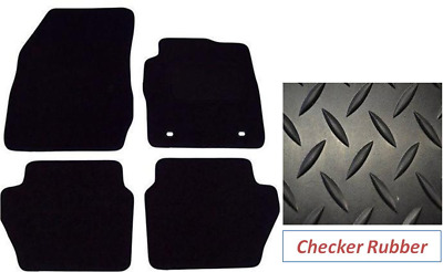 Rubber Ford Fiesta MK7 Tailored Car Mats 2011 Onwards - Black
