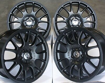 "18"" BLACK RT3 ALLOY WHEELS FITS 5x110 OPEL ASTRA CORSA MERIVA ZAFIRA"