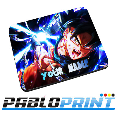 New Personalised Goku Ultra Instinct Mouse Mat Pad Dragon Ball Gift Birthday