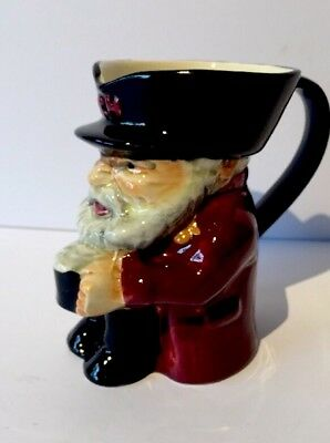 """Vintage 4"""" Hand Painted SHORTER & SON CHELSEA PENSIONER Toby / Character Jug"""