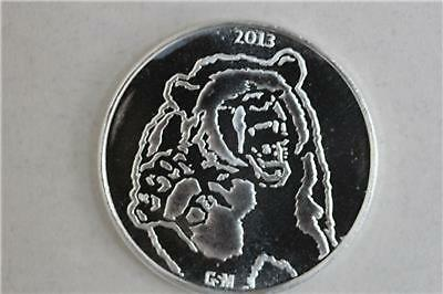 2013 Golden State Mint (GSM) 1 oz .999 Fine Silver Bull Bear Round