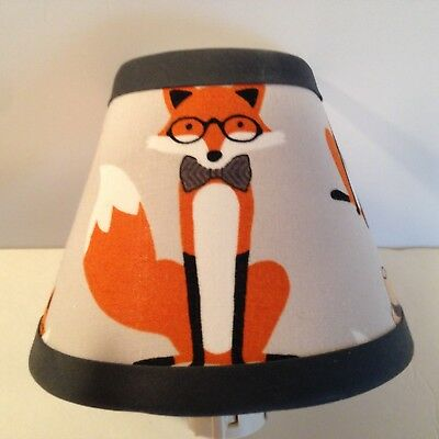 Fox/Woodlands Fabric Children's Night Light
