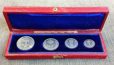 GREAT BRITAIN Victoria 1894 Maundy Set With Case