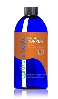 Colloidal Copper 30 PPM Purest Quality Available 8oz