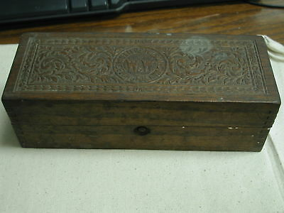 Wheeler & Wilson Sewing Machine wooden accessory box 9 x 3 1/2