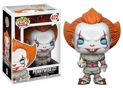 Funko POP ! Movie IT Pennywise with boat 2017 472 -Blue eyes - occhi Blu NEW!
