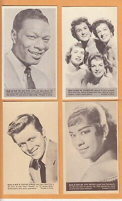1959 NU CARDS  THE CHORDETTES NO:12  ROCK & ROLL   Ex MINT+ to NEAR MINT