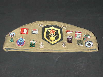 WW2 Russian Military Cap Pilotka with Patches and Medals /size 57