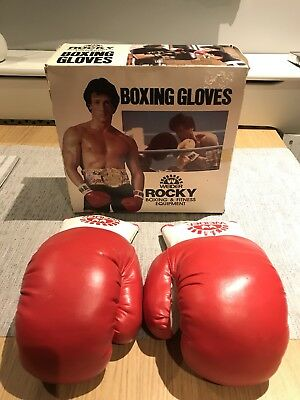 Rocky Balboa Old School Boxing Gloves Vintage Classic Retro with box 1977-1980s
