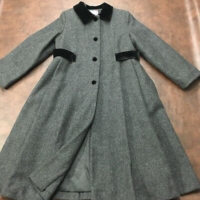 ROTHSCHILD Girls Teen Long Wool Coat, Fully lined Dress Flare Trench Size 12