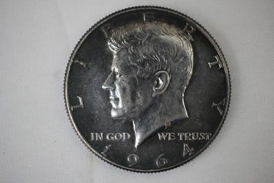 1964 Kennedy Half Dollar 50c Dark Toned 90% Silver