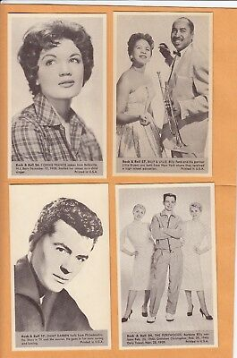 1959 Nu Cards  Connie Francis No:26  Rock & Roll    Mint