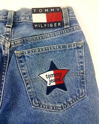 Vtg Women s Tommy Hilfiger Jeans Spellout Star Patch Embroidered Tommy Jeans  EUC 2aff64314c