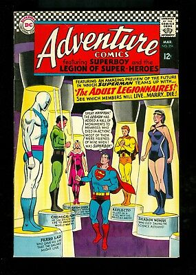 ADVENTURE COMICS #354 -- March 1966 -- VF+ Or Better