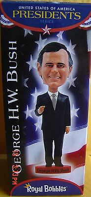 George H.w. Bush Royal Bobbles Figurine Usa Presidents Series Limited Bobblehead