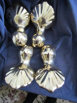 set of 4 very heavy antique style cast brass bath feet