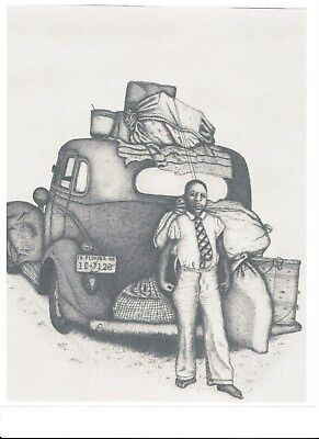"""Pen and Ink Drawing """"MOVING DAY"""" by Andrew W. Rulon"""