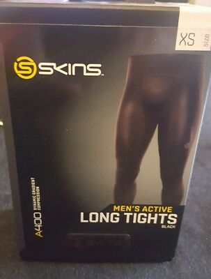 A400 Mens Skins Compression long tight Black SIZE XS RRP $189.99