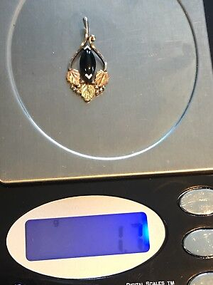 Scrap Or Wear Sterling Silver 12k Blackhils Gold Pendant