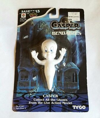 Rare Vintage 1995 New Casper Movie Bendables Toy - Tyco Ghost Pizza Hut Figure