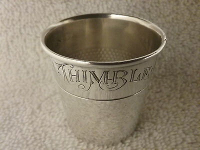 """Vintage Sterling Silver Webster """"Only A Thimble Full"""" Cocktail Shot Glass"""