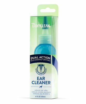 TropiClean Dual Action Ear Cleaner Drying Healthy Moisturizer Wax Remover 4 oz.