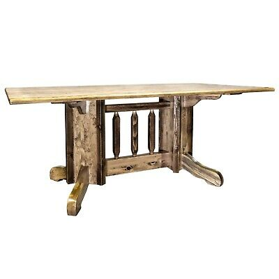 FARMHOUSE TABLES AMISH Made Dining Room Table Solid Pine Foot Long - 6 foot dining room table