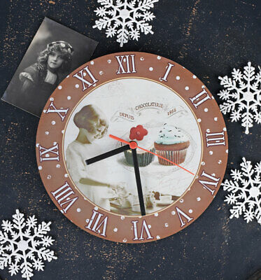 Wall Clock France Kitchen Children's Watch Muffins Country House Style