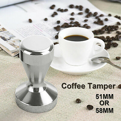51MM / 58MM Coffee Tamper Stainless Steel Polished Tampa Tamp Espresso Barista +